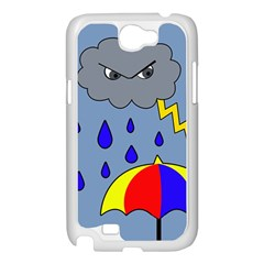 Rainy day Samsung Galaxy Note 2 Case (White)