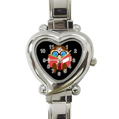 Brainiac  Heart Italian Charm Watch