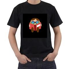 Brainiac  Men s T-Shirt (Black) (Two Sided)