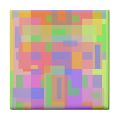 Pastel decorative design Tile Coasters