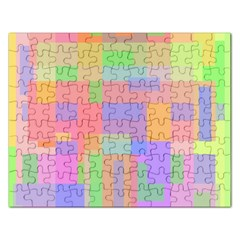 Pastel decorative design Rectangular Jigsaw Puzzl