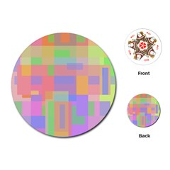 Pastel decorative design Playing Cards (Round)