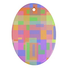 Pastel decorative design Oval Ornament (Two Sides)