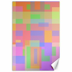 Pastel decorative design Canvas 12  x 18
