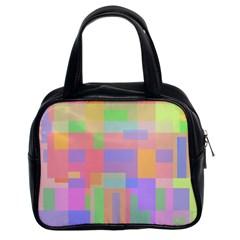 Pastel decorative design Classic Handbags (2 Sides)