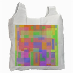 Pastel decorative design Recycle Bag (One Side)