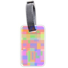 Pastel decorative design Luggage Tags (One Side)