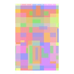Pastel decorative design Shower Curtain 48  x 72  (Small)