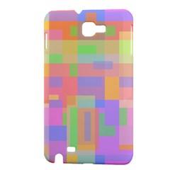 Pastel decorative design Samsung Galaxy Note 1 Hardshell Case