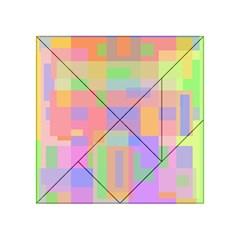 Pastel decorative design Acrylic Tangram Puzzle (4  x 4 )