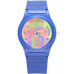 Pastel decorative design Round Plastic Sport Watch (S)