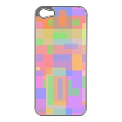 Pastel decorative design Apple iPhone 5 Case (Silver)