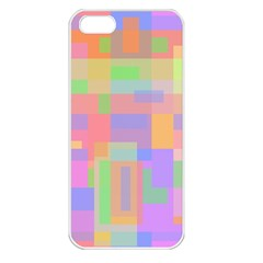 Pastel decorative design Apple iPhone 5 Seamless Case (White)