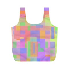 Pastel decorative design Full Print Recycle Bags (M)