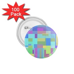 Pastel geometrical desing 1.75  Buttons (100 pack)