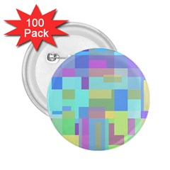 Pastel geometrical desing 2.25  Buttons (100 pack)