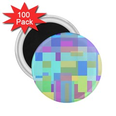Pastel geometrical desing 2.25  Magnets (100 pack)