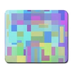 Pastel geometrical desing Large Mousepads