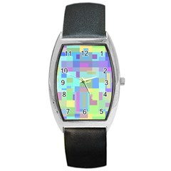 Pastel geometrical desing Barrel Style Metal Watch
