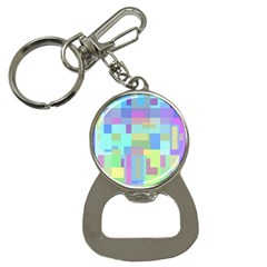 Pastel geometrical desing Bottle Opener Key Chains