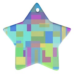 Pastel geometrical desing Star Ornament (Two Sides)