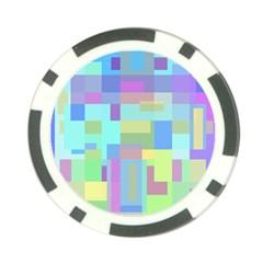 Pastel geometrical desing Poker Chip Card Guards