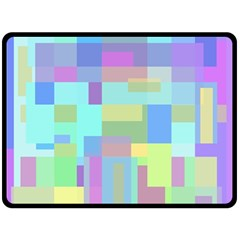 Pastel geometrical desing Fleece Blanket (Large)