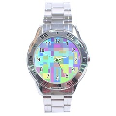 Pastel geometrical desing Stainless Steel Analogue Watch