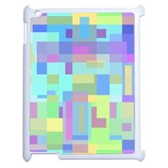 Pastel geometrical desing Apple iPad 2 Case (White)