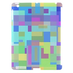 Pastel geometrical desing Apple iPad 3/4 Hardshell Case (Compatible with Smart Cover)