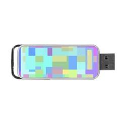 Pastel geometrical desing Portable USB Flash (One Side)