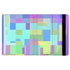 Pastel geometrical desing Apple iPad 3/4 Flip Case