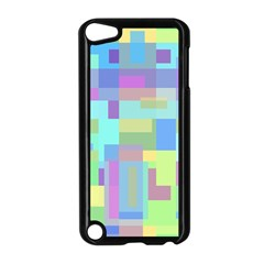 Pastel geometrical desing Apple iPod Touch 5 Case (Black)