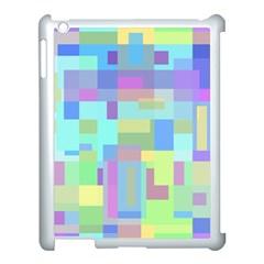 Pastel geometrical desing Apple iPad 3/4 Case (White)