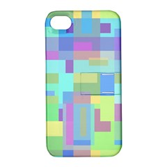 Pastel geometrical desing Apple iPhone 4/4S Hardshell Case with Stand