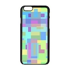Pastel geometrical desing Apple iPhone 6/6S Black Enamel Case