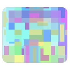Pastel geometrical desing Double Sided Flano Blanket (Small)
