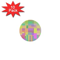 Pastel colorful design 1  Mini Buttons (10 pack)