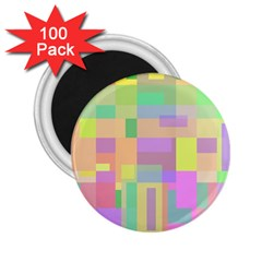 Pastel colorful design 2.25  Magnets (100 pack)