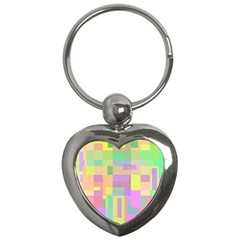 Pastel colorful design Key Chains (Heart)