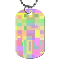 Pastel colorful design Dog Tag (Two Sides)