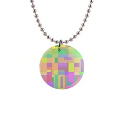 Pastel colorful design Button Necklaces