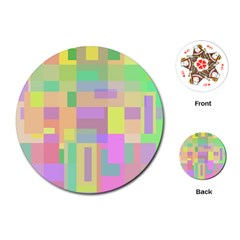 Pastel Colorful Design Playing Cards (round)