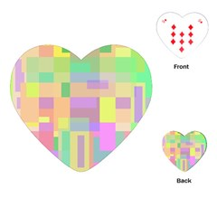 Pastel colorful design Playing Cards (Heart)