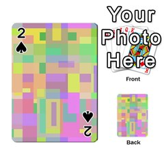 Pastel colorful design Playing Cards 54 Designs