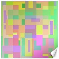 Pastel colorful design Canvas 16  x 16