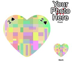 Pastel colorful design Playing Cards 54 (Heart)