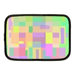 Pastel colorful design Netbook Case (Medium)