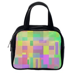 Pastel colorful design Classic Handbags (One Side)