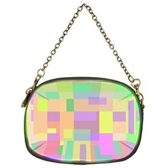 Pastel colorful design Chain Purses (One Side)